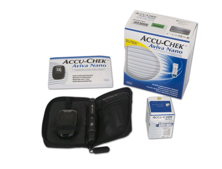 Accu-Chek Aviva Nano Blood Glucose Monitoring System including 10 strips