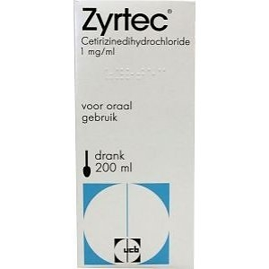 Zyrtec liquid 1mg/ml 200ml, 1pce