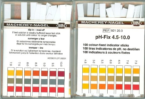PH test paper strips 5.00-10.0, 100pcs
