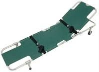 Stretcher easy fold tilt back wheeled, 1pce