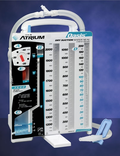 Atrium Oasis Dry Suction chest drain 6