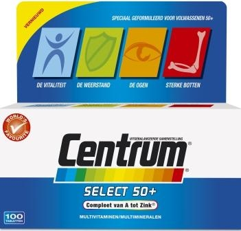 Centrum multivitamines senior, 100 pieces