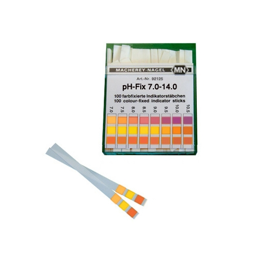 PH test paper strips 7.0-14.0, 100 pieces