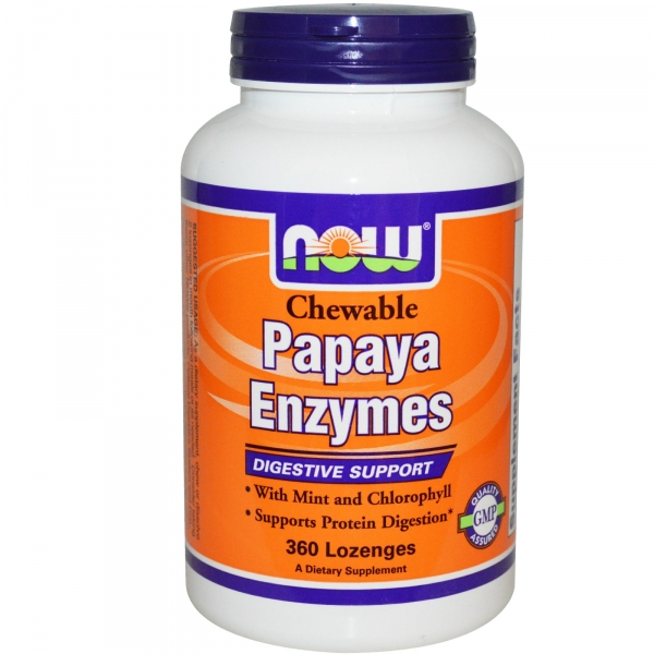 Papaya enzymes chewable, 180 tablets